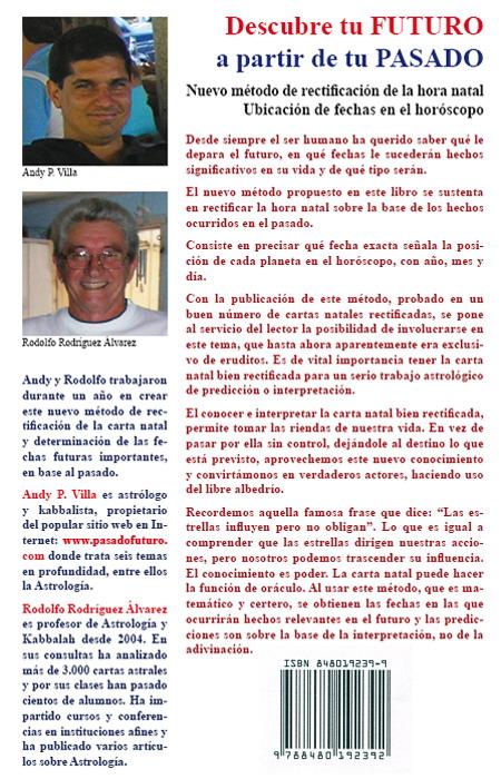 Libro Andy P. Villa Rodolfo Contraportada Astrologia Articulos Pasadofuturo Horoscopo Zodiaco Signos