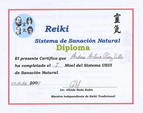 Diplomas de reiki gratis - Imagui