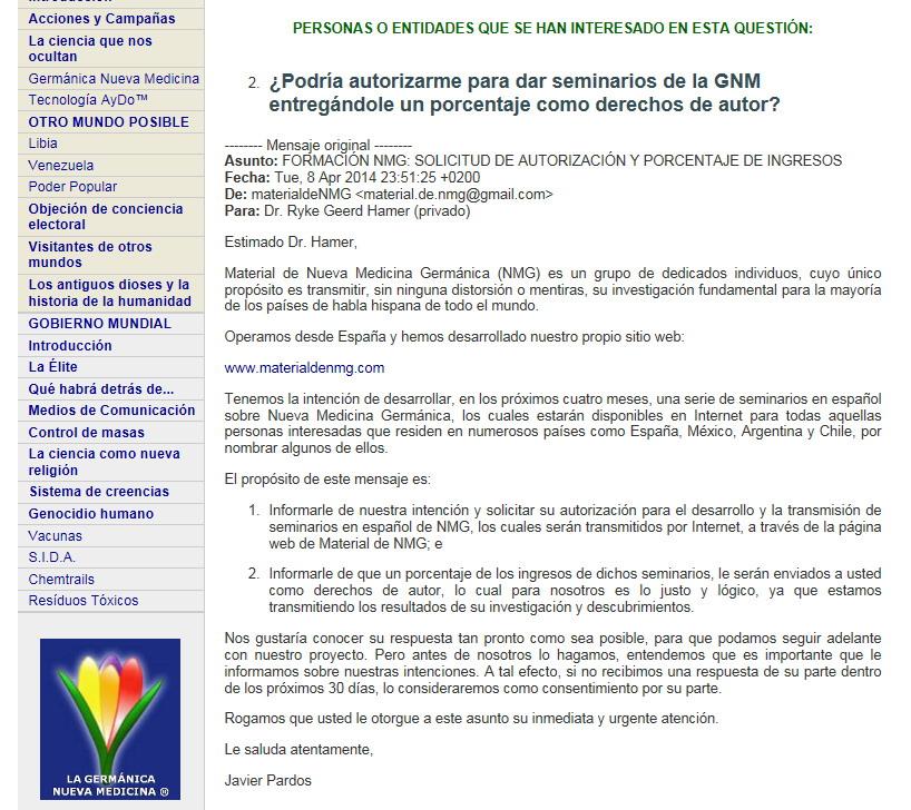 Material NMG Hamer Prohibicion Francoise Leduc Nueva Medicina Germanica Articulos Andy Pasadofuturo Hamer