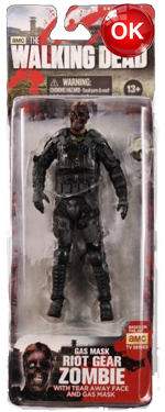 The Walking Dead McFarlane Toys Eaglemoss Collections AMC FOX Serie 4 TV Figures Collectible Action Accion Figuras Coleccion Gas Mask Riot Gear Zombie
