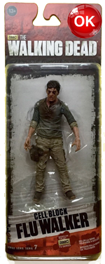 The Walking Dead McFarlane Toys Eaglemoss Collections AMC FOX Serie 7 TV Figures Collectible Action Accion Figuras Coleccion Cell Block Flu Walker