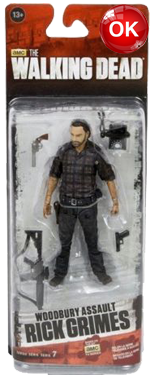 The Walking Dead McFarlane Toys Eaglemoss Collections AMC FOX Serie 7 TV Figures Collectible Action Accion Figuras Coleccion Woodbury Assault Rick Grimes
