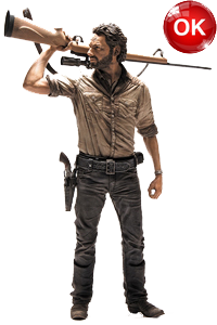 The Walking Dead McFarlane Toys Eaglemoss Collections AMC FOX Serie TV Figures Collectible Action Accion Figuras Coleccion Rick Grimes